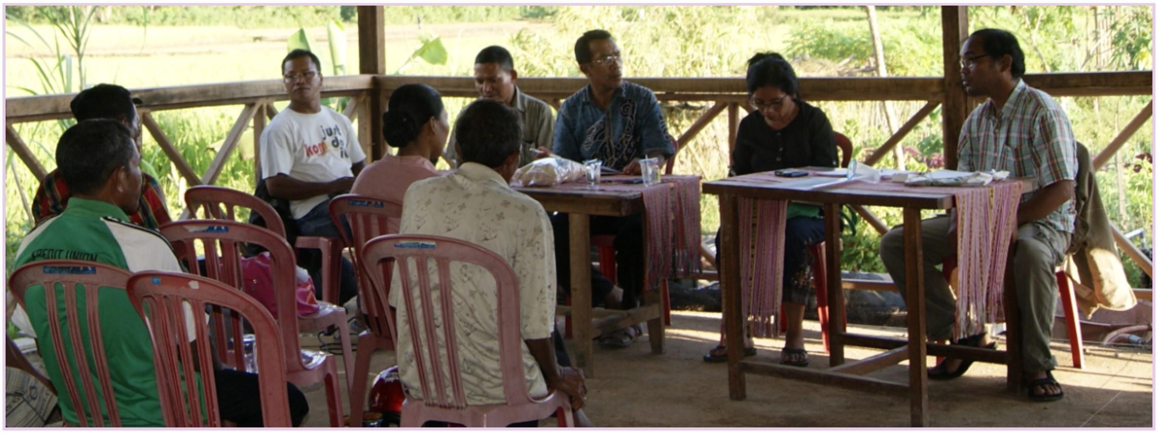 Pertemuan Kelompok Tani Anggota Koperasi SUKA DAMAI Labuan Bajo bersama Pengurus dan Divisi Pertanian SUNSPIRIT dalam rangka kerjasama penanaman benih padi Woja Laka